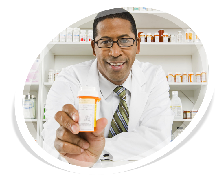 Portrait of a african american pharmacist